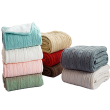 Europe Style Soft Throw Yarn Knitted Cashmere-like Blanket For Sofa 120*180Cm Acrylic Travel Airplane Couch Blankets цена