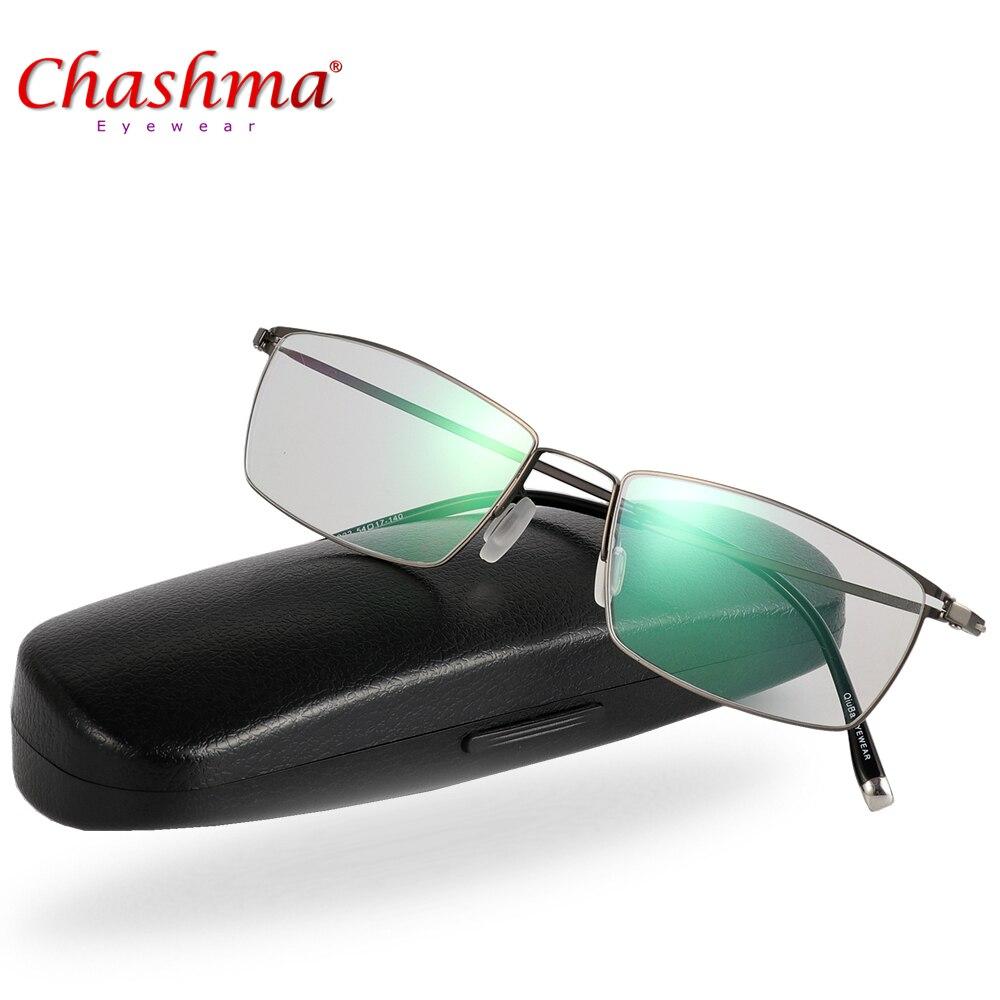 Liga de titânio Homens Óculos de Miopia Armações de óculos de Prescrição De  Lentes Ópticas e 69a5650595
