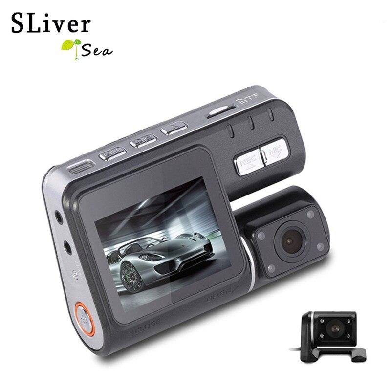 SLIVERYSEA Dual Lens Car DVR Camera Full HD 1080P+Rear View Cam 2.0LCD With Night Vision H.264 Dash Cam 140 Degree #B1224