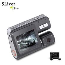 SLIVERYSEA Dual Lens Car DVR Camera Full HD 1080P+Rear View Cam 2.0