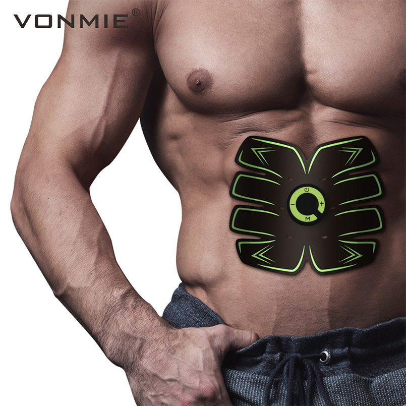 VONMIE Smart EMS Electric Pulse Treatment Massager Abdominal Muscle Trainer Wireless Sports Muscle Fitness 8 Packs Body Massage herbal muscle
