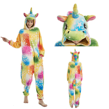 Unicorn Pajamas Onesie Women Kugurumi Cute Animal Panda Stitch Flannel Pajama Kigurumi Adults Nightie pijama unicornio Sleepwear