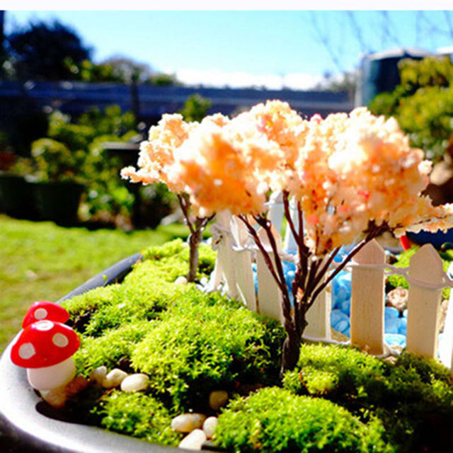 Figurines Craft For Home 10Pcs Artificial Mini Mushroom Miniatures Fairy Garden Moss Terrarium Resin Crafts Decorations 6