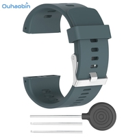 Ouhaobin Durable Replacement Silicone Rubber Watch Band Wrist Strap For POLAR V800 Multicolor Fresh Watch Wrist Straps Sep7