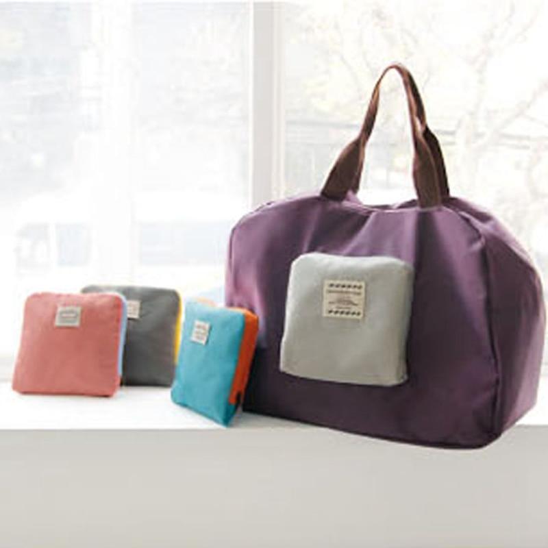 Travel folding handbag female bag portable eco-friendly storage clothing shopping bag luggage bags
