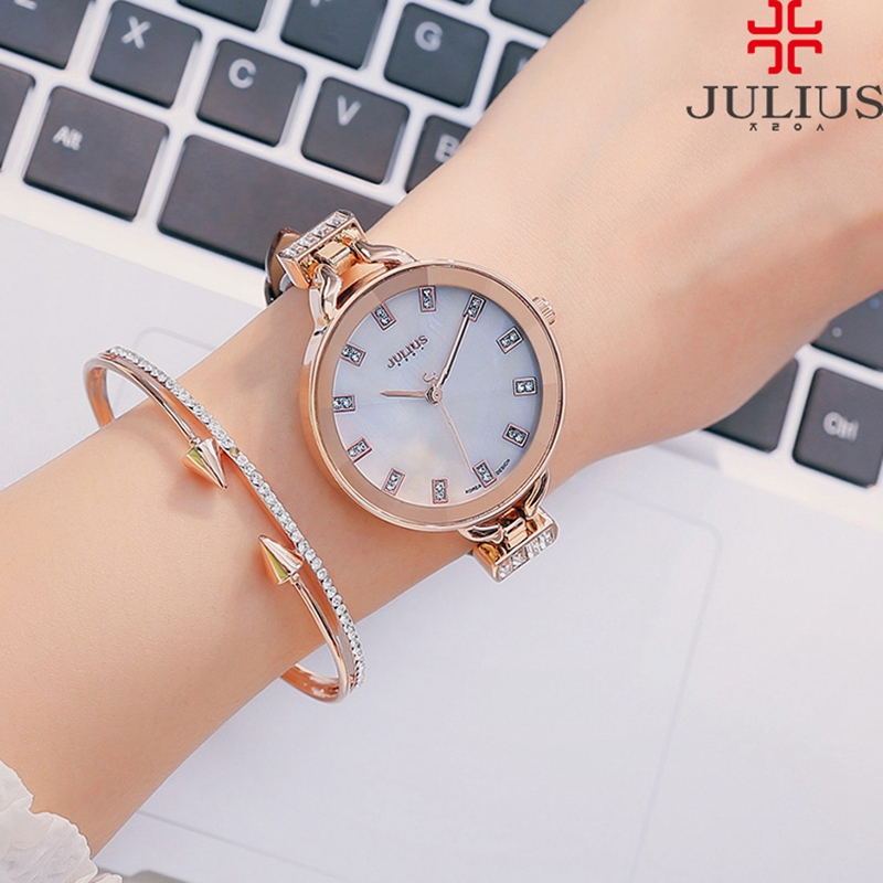 2016 hot women dress Austrian rhinestone watches fashion casual quartz watch leather wristwatch Gift luxury Julius 498 clock tag hot women s steel ceramic wristwatch women dress rhinestone watches fashion casual quartz watch luxury brand melissa 8009 clock