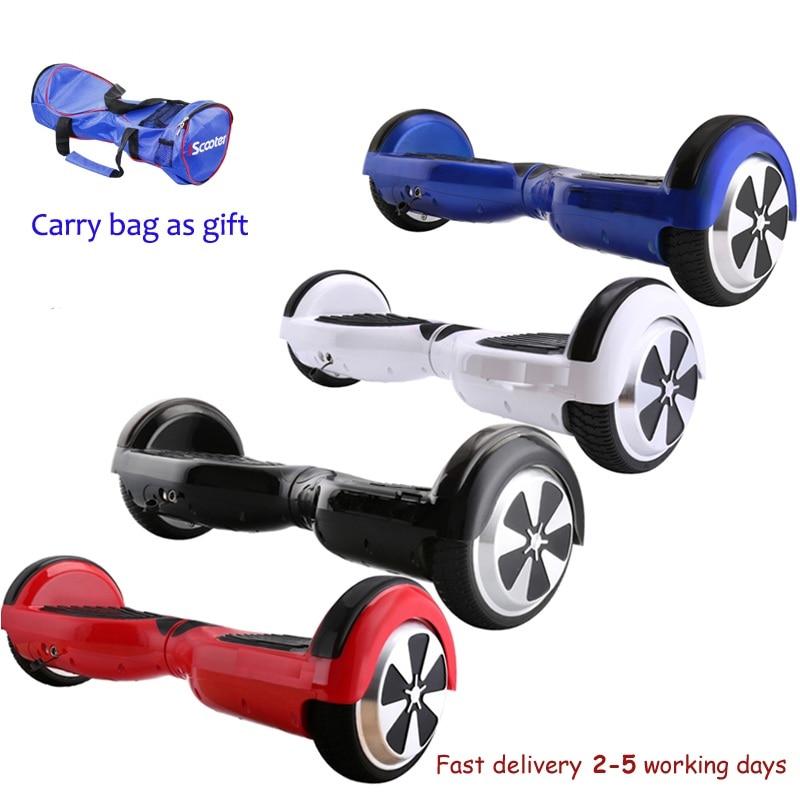 4 colori 6.5 di pollice Hoverboard Due Ruote di Auto Bilanciamento del Motorino Hover Bordo Con Borsa per il trasporto UL Certificato di Trasporto libero DE magazzino