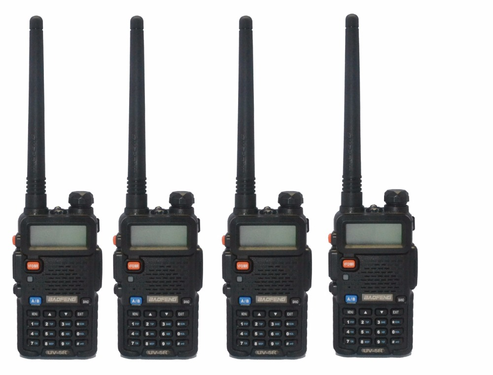 4 pcs 2016 New BLACK BaoFeng UV-5R WalkieTalkie 136-174 /400-520Mhz VHF/UHF DUAL-BAND Two Way Radio4 pcs 2016 New BLACK BaoFeng UV-5R WalkieTalkie 136-174 /400-520Mhz VHF/UHF DUAL-BAND Two Way Radio