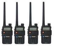 4 Pcs 2016 New BLACK BaoFeng UV 5R Walkie Talkie 136 174 400 520Mhz VHF UHF