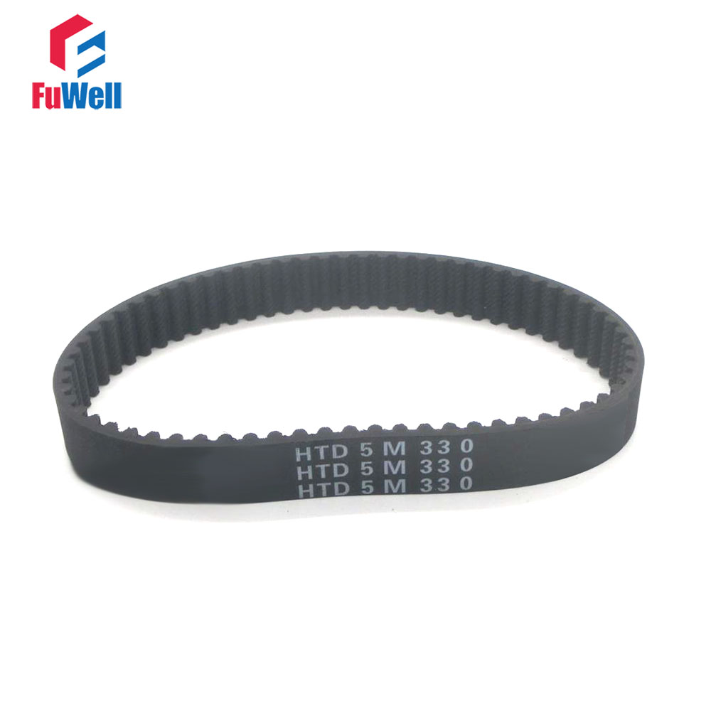 HTD 5M Timing Belt 15/20/25mm Width 295/300/305/310/315/320/325/330/335/340/345mm Rubber Pulley Belt Closed Loop Toothed Belt 5pcs htd5m belt 550 5m 15 teeth 110 length 550mm width 15mm 5m timing belt rubber closed loop belt 550 htd 5m s5m belt pulley