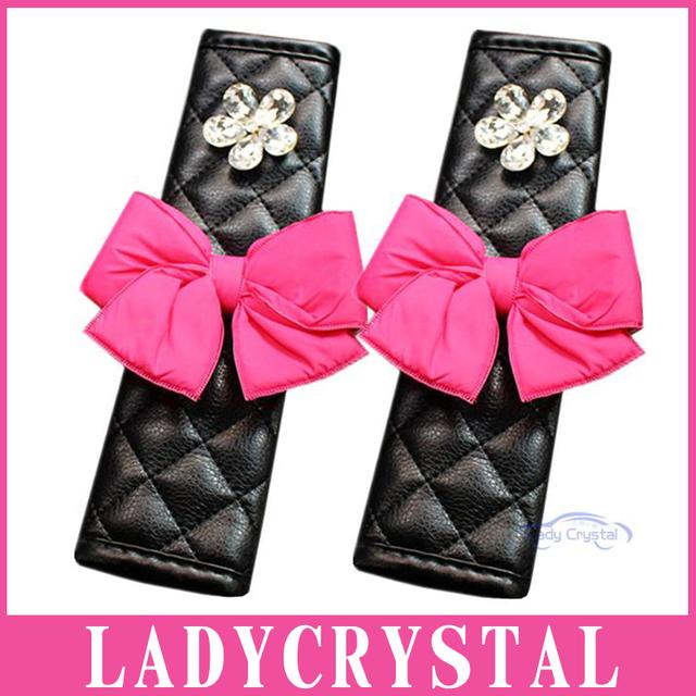 Ladycrystal 1 Par Auto Cubierta Del Cinturón de seguridad Del Coche Del Cinturón de seguridad Hombrera Car Styling Traje Para Todos Los Coches