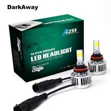 Супер яркий светодиодный H7 фар автомобиля комплект 66 Вт 6000lm H11 H8 H9 HB3 HB4 9006 H3 H1 светодиодный авто фары противотуманные лампы 6500 К без балласта