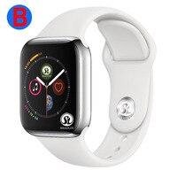 B Đồng Hồ Thông Minh Smart Watch Series 4 Nam Nữ Bluetooth dùng cho Apple IOS iPhone Xiaomi Android (Nút Màu Đỏ)