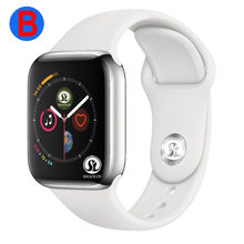 B Smart Watch Series 4 Men Women Bluetooth SmartWatch for Apple iOS iPhone Xiaomi Android Smart Phone (Red Button)(China)