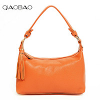 QIAOBAO Brand Fashion Candy Women Bags Messenger Ladies Handbag 100 Genuine Leather High Quality Diagonal Cross