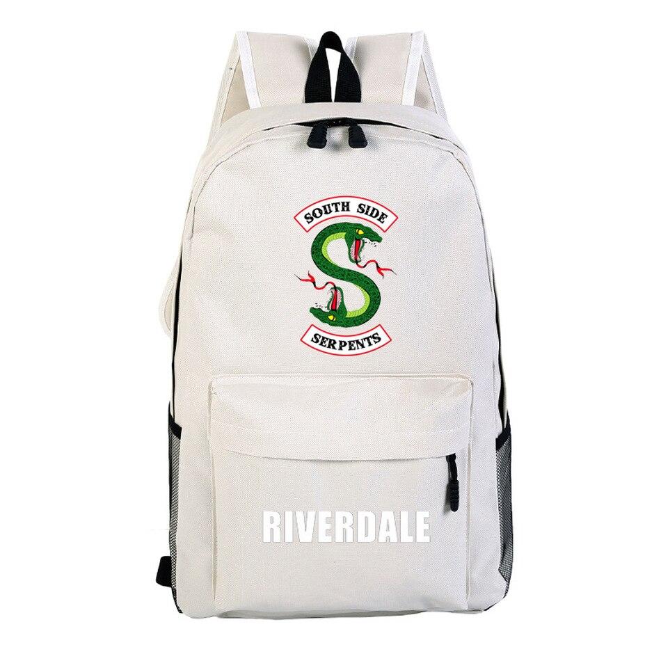 Black New Riverdale School Travel Bags Backpack Satchel knapsack Casual Student Packsack Teenager Bags