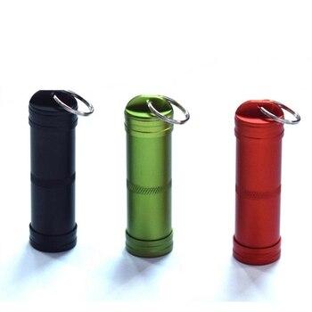EDC Survival Case pojemnik awaryjne przetrwanie Pill Tank stop Aluminium wodoodporna kapsułka Seal butelka Survival narzędzia pierwszej pomocy