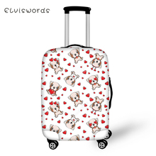 ELVISWORDS Suitcase Protective Cover Little Cute Dogs Pattern Elastic Dust-proof Kawaii Design Travel Luggage Accessories