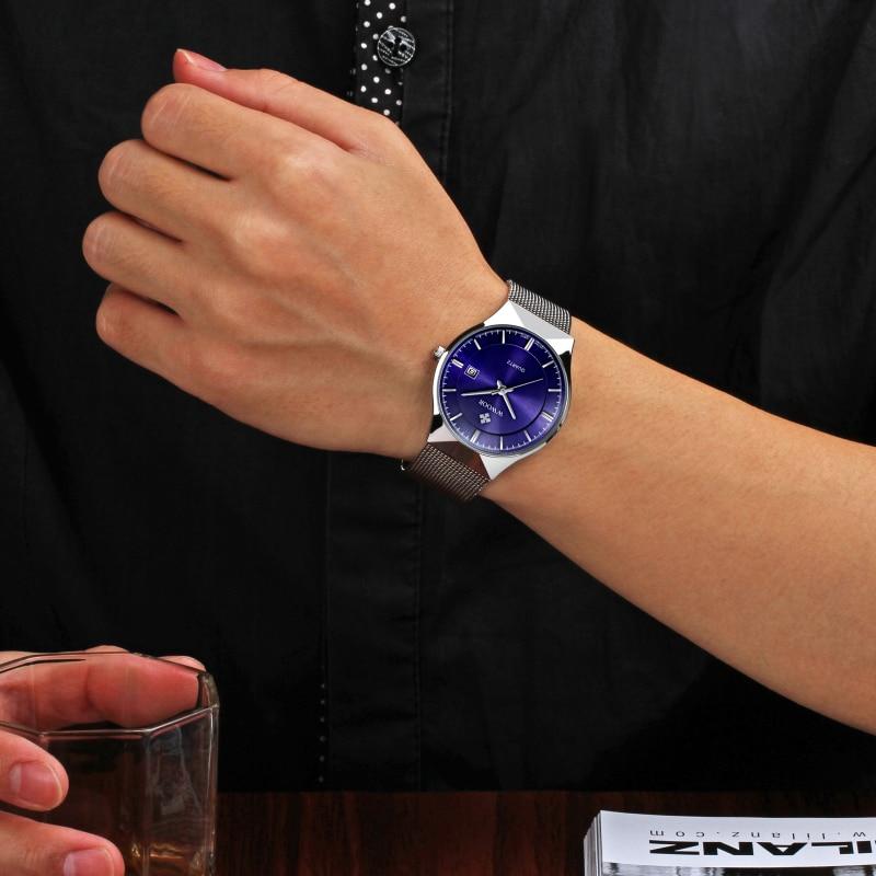 Super slim Quartz Casual Armbandsur Business Top Brand WWOOR - Herrklockor - Foto 6