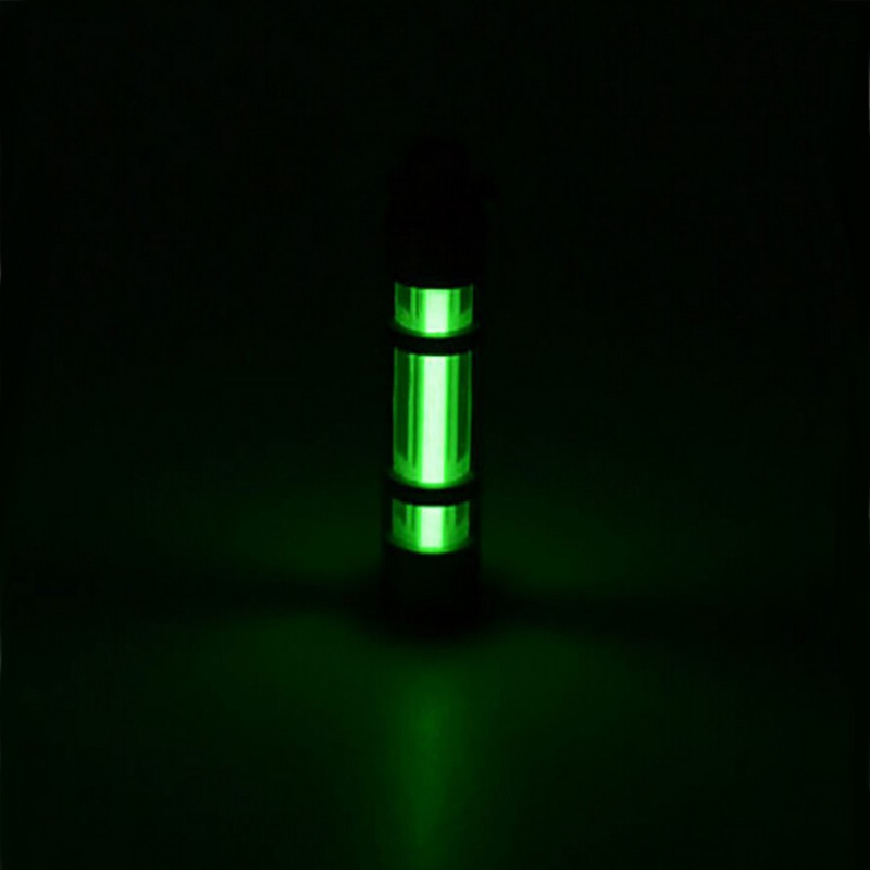 Outdoor Lights 500UL Automatic light titanium alloy tritium keychain fluorescent tube lifesaving emergency lights New H5