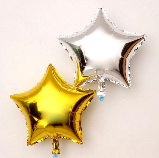 10pcs 45cm 18inch gold silver star foil balloon party for 7 star balloon decoration