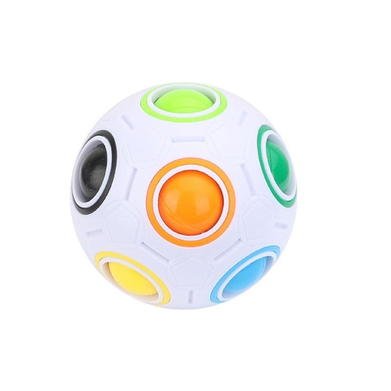 레인보우 볼 퍼즐 구형 매직 큐브 장난감 성인 어린이 플라스틱 크리 에이 티브 축구 학습 교육 완구 어린이를위한 선물