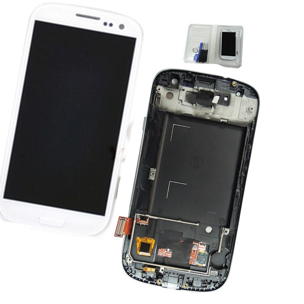 ФОТО For Samsung Galaxy S3 I9300 Lcd And Touch Screen Galaxy S3 I535 Lcd Display And Touch Screen Digitizer Assembly With Frame