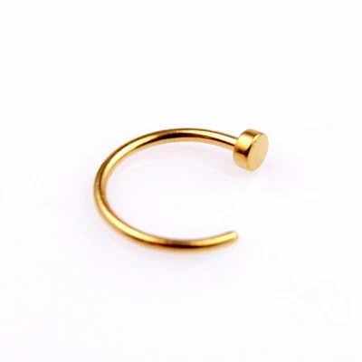 ปลอมแหวนจมูกแหวน C คลิป Kylie Lip Piercing Burun แหวนจมูก Hoop ผู้หญิง Neuspiercing เครื่องประดับต่างหูทอง