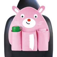 Cartoon Car Seat Back Organizer Stowing Tidying Oxford Cloth Food Cup Paper Hang Storage Bag Auto Interior Accessories Supplies
