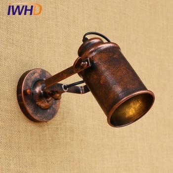 IWHD-Lámparas LED de Pared Industrial Vintage ajustables, iluminación creativa para Loft, Retro,...