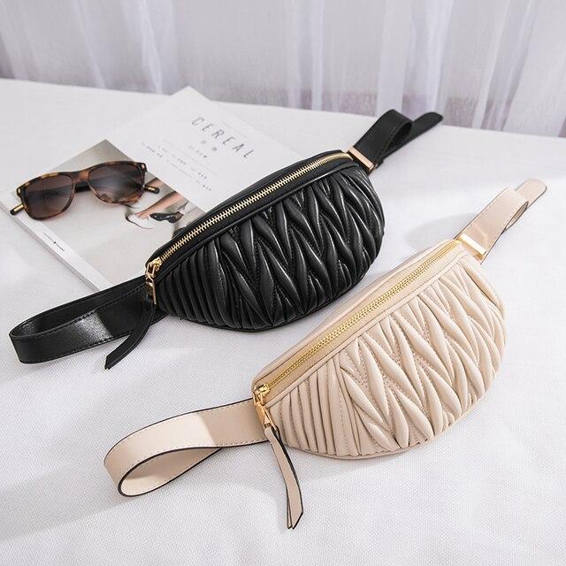 Женские поясные сумки роскошные дизайнерские брендовые Талия пакеты Мода Кожа Груди Сумка 2018 Новый crossbody сумки многофункциональные сумки на ремне