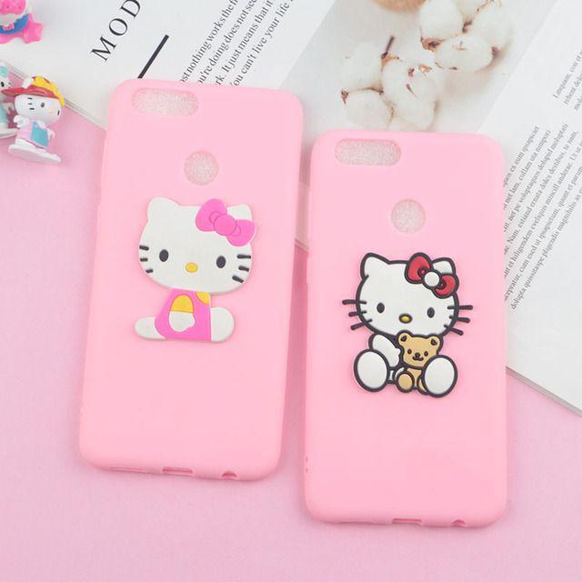 075441137 Lovely Hello Kitty Cat Case for Huawei Y7 Pro 2019 Y7 Prime Y6 Prime Y9 2018