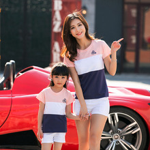 Striped Summer Short Sleeve T-shirt Family