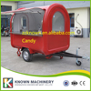 High Quality 2 Big Wheels Food Trailer Mobile Food Cart Fast Food Truck Free Shipping By