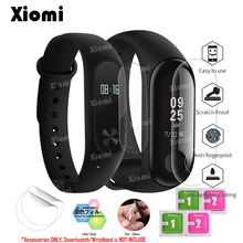 4Pcs/Lot(2Films+2Wipes)For Xiaomi Mi Band 2/3 Miband Band3 Band2 Smart Wristband Screen Protector Cover Protective Film