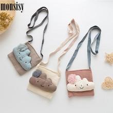 Coin Purse Monsisy Kawaii Wallet Handbags Crossbody-Bags Fashion Cartoon Children Cotton