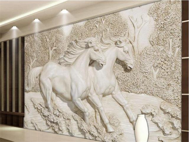 Kleurrijke Witte Woonkamer : 3d behang custom foto behang woonkamer muurschildering reliëf wit