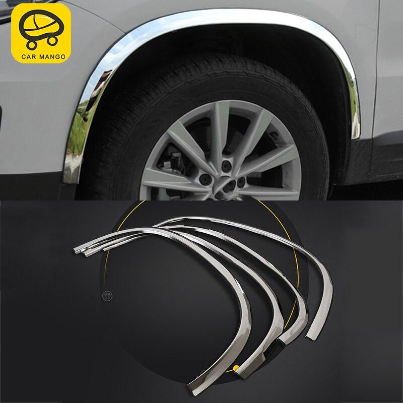 Mangue de voiture pour Volkswagen Tiguan 2010-2016 voiture roue sourcil cadre couverture garniture Sitcker