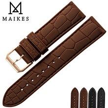 MAIKES Soft Silicone Watch Band 20mm 22mm Watch Accessories Rubber Watchband Black Buckle Sports Sweatproof Watch Strap недорого