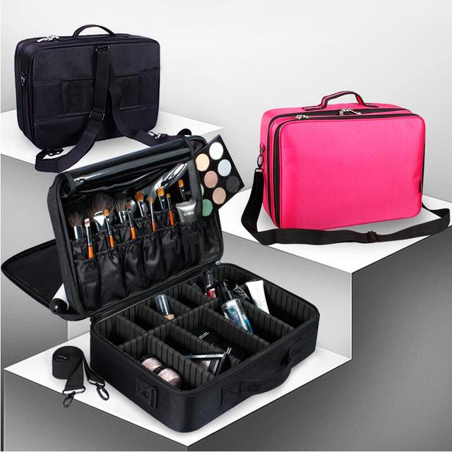 Professional Cosmetic Cases Large Storage Make-up bags Portable Maleta de Maquiagem; Not Including the Cosmetics And Makeup