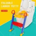 Sapo bebê toilet seat potty crianças treinamento higiênico bacia escada dobrável cadeira de plástico crianças assento do vaso sanitário higiênico
