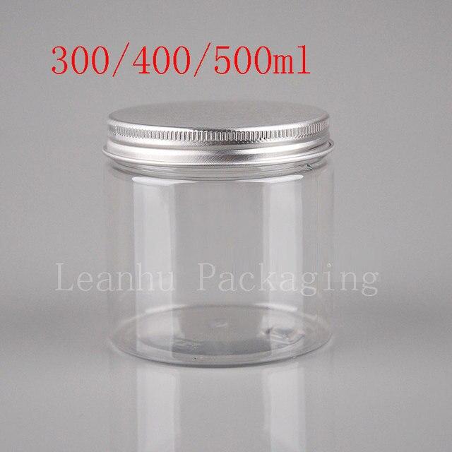 300ml 400ml 500ml transparent food jar with sealed screw lid clear cookie jars big