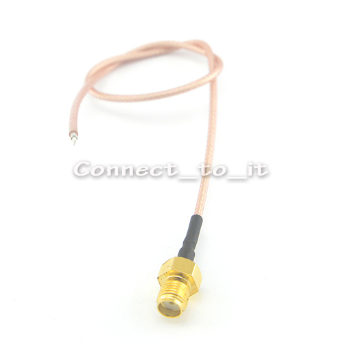 10 Pieces SMA Female Jack Adapter Connector DIY Wifi Router Cable 270mm Extension pigtail cable RG178