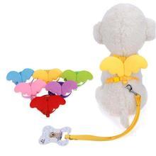 """1 pc """"Cute Angel"""" šunų petnešėlių rinkinys, skirtas mažiems šunims, katėms, dizainerio sparno krūtinėlė, šuniukų apykaklės, petnešėlės, pet accessories # 15"""