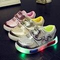Glowing Zapatillas niñas Zapatos de La Princesa niñas Zapatos de Bebé de La Manera Muchachos de Los Niños Luminosa Luces Intermitentes (Bebé/Niños Pequeños)
