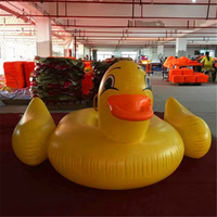 275*140CM Giant Inflatable Big yellow duck Pool Float Ride On Swimming Ring Water Mattress Circle Cool Holiday Party Toys