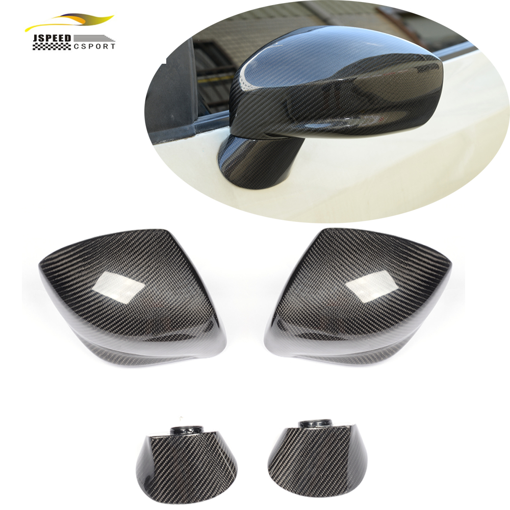 carbon fiber rear side mirror cover trims car styling for For Nissan GT R R35 2009 2015