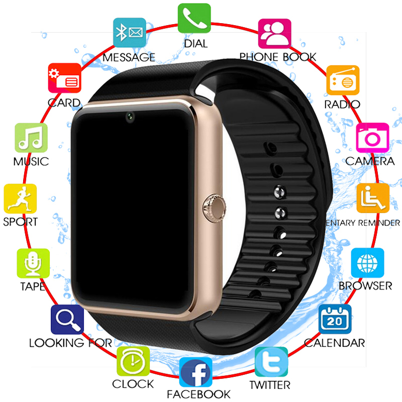 NEW Bluetooth <font><b>Smart</b></font> <font><b>Watch</b></font> Men GT08 With Touch Screen Big Battery Support TF Sim Card Camera For IOS iPhone Android <font><b>Phone</b></font> PK A1 image
