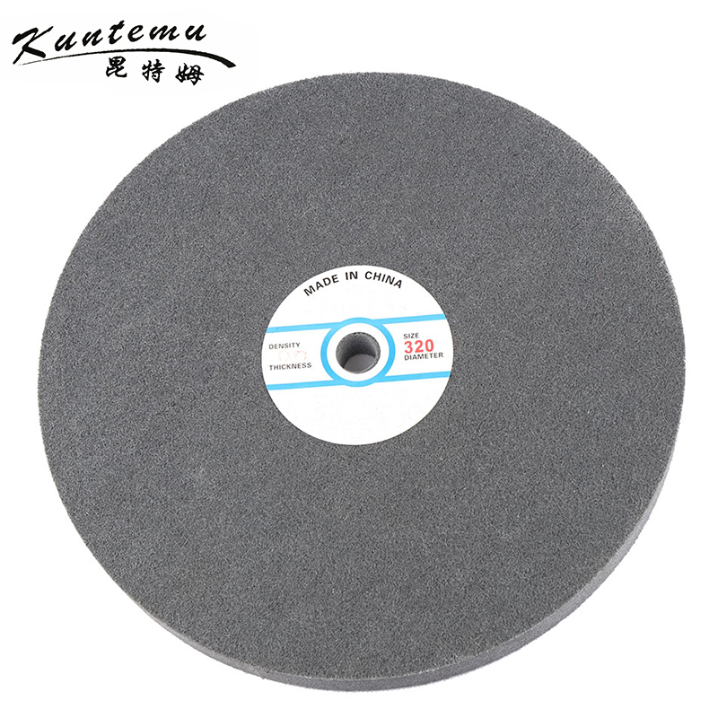 1PC 250mm Fiber Polishing Wheel With Grit 320 For Metal Polishing