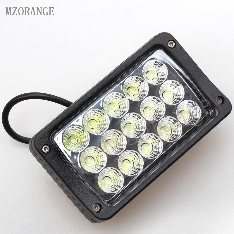 MZORANGE 45W 6inch Flood/Spot LED work light headlight LED 12V 24V for SUV ATV 4x4 off road Truck tractor farm vehicle 1 Piece